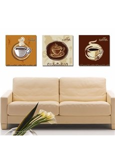 New Arrival Hot Coffee In Cup Canvas Wall Prints