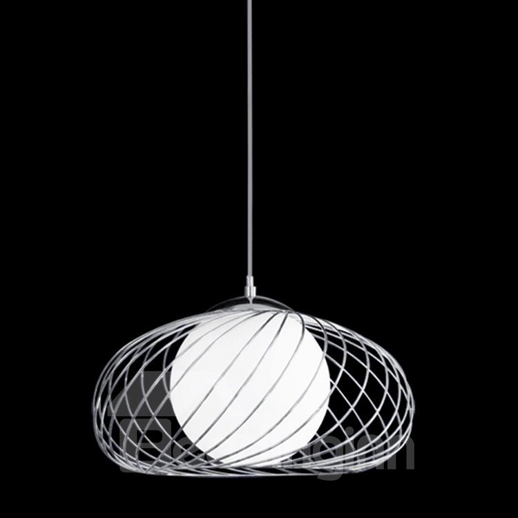 Comtemporary Amazing Net Metal Glass Shade ​Electroplated Finish Pendant Light
