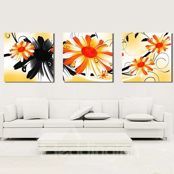 New Arrival Colorful Flowers Blossom Canvas Wall Prints