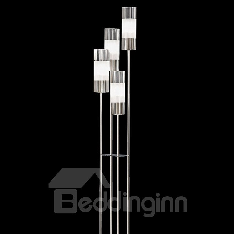 Fashionale Metal Glass Shade 4 Lights Floor Lamp