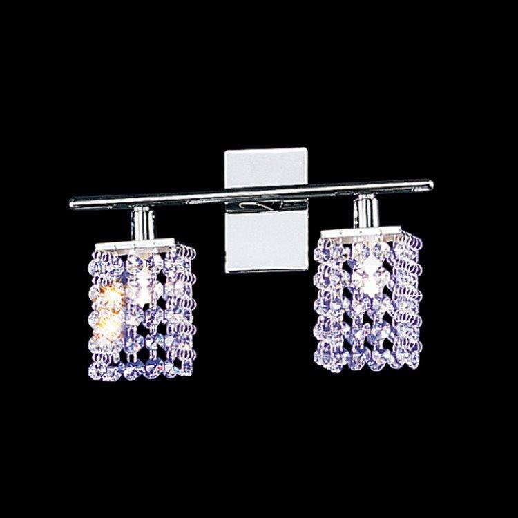 Modern Design Shining Metal Frame Crystal Shade Decorative Wall Light