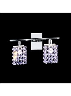 Modern Design Shining Metal Frame Crystal Shade Decorative Wall Light