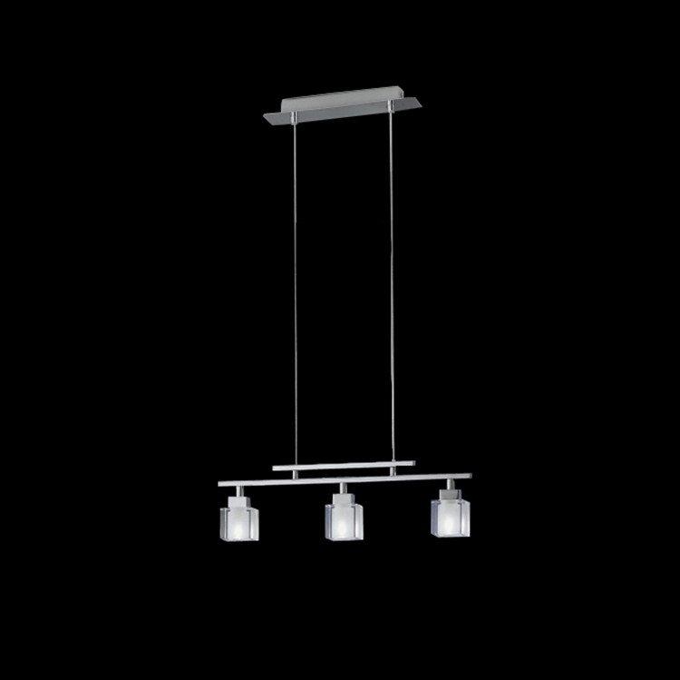 Modern Metal Crystal Shade 3 Lights Pendant