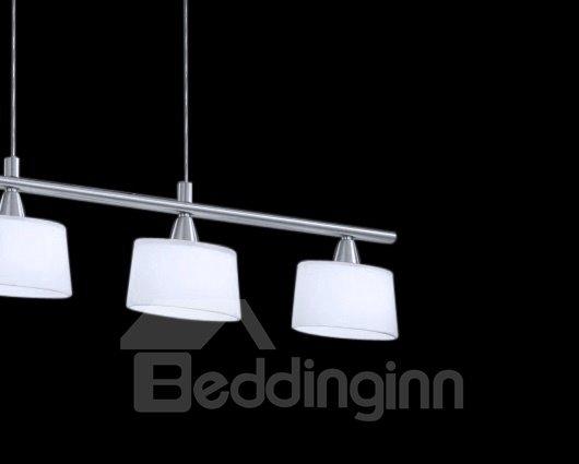 Modern Simple Style Metal Crystal Shade 4 Lights Pendant