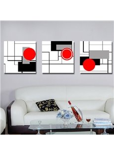 Simple Style Unique Geometric Figure Pattern Canvas Wall Art Prints