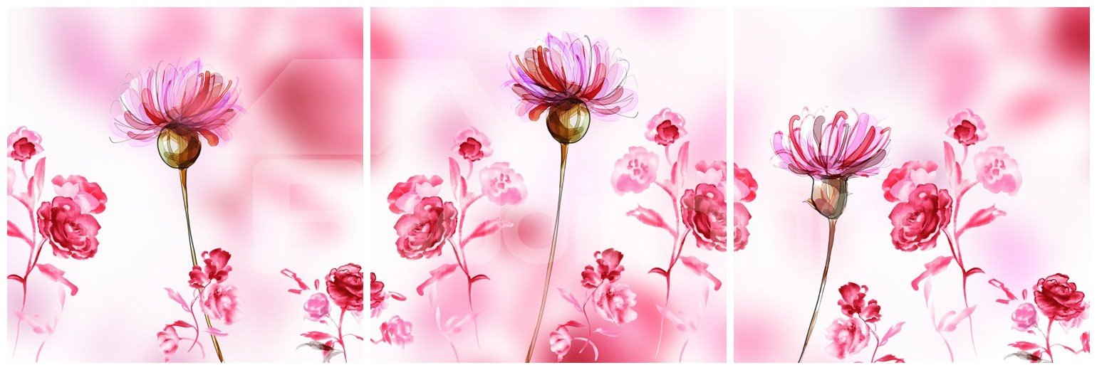 New Arrival Blooming Pink Flowers Canvas Wall Prints