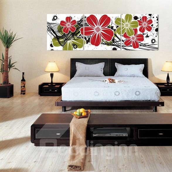 New Arrival Colorful and Bright Flowers Blossom Canvas Wall Prints 10925769