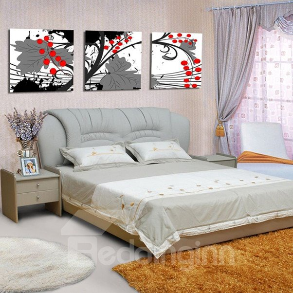 New Arrival Red Apple on Tree Canvas Wall Prints