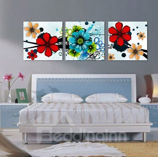 New Arrival Bright Colorful Flowers Blossom Canvas Wall Prints 10926236