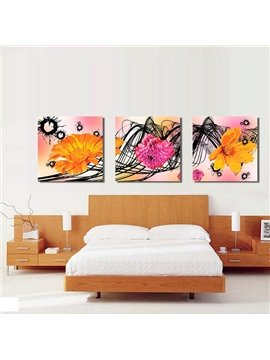 New Arrival Shiny and Blooming Flowers Canvas Wall Prints