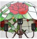 16-Inch Pretty Floral Pattern Tiffany Stained Glass Pendant Light