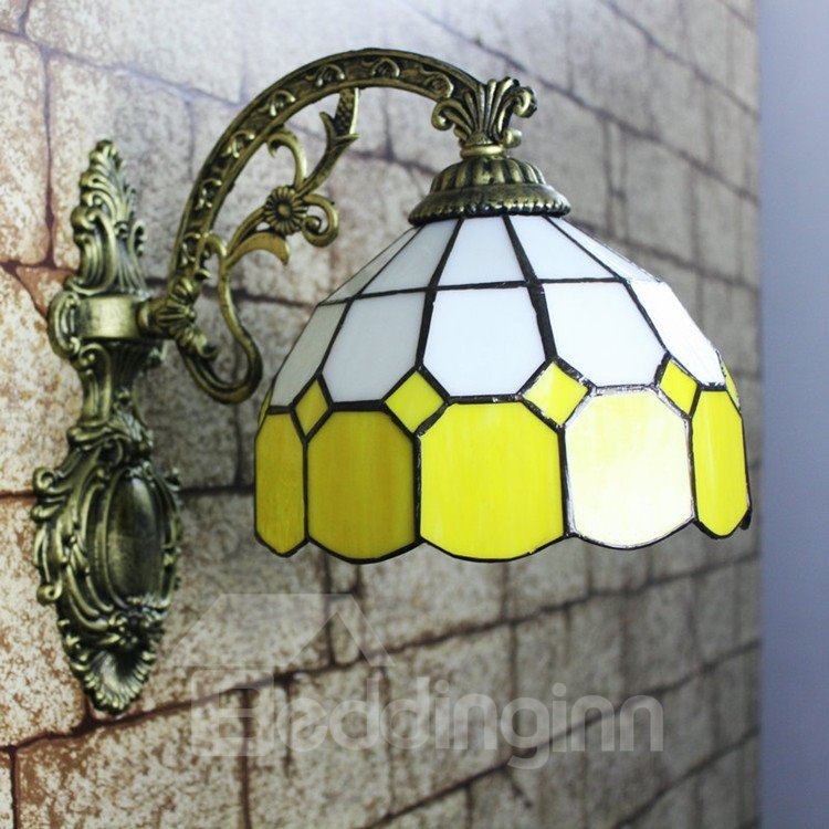 Alluring Simple Style Tiffany Stained Glass Wall Light - beddinginn.com