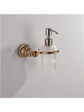Ti-PVD Finish  Simple Round Style Antique Brass Soap Dispenser