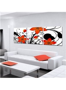 New Arrival Delicate and Cute Orange Flowers Blossom Canvas Wall Prints