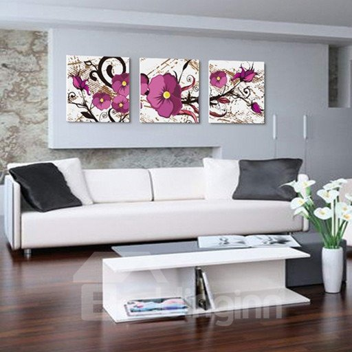 New Arrival Lovely and Fragrant Purple Flower Canvas Wall Prints