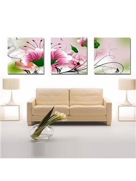 New Arrival Delicate and Sweet Pink Flowers Canvas Wall Prints