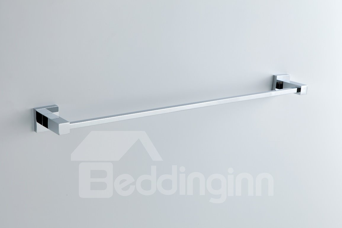New Arrival Modern Chrome Finish Solid Brass Slat 24-Inch Towel Bar