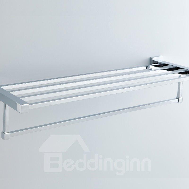 Chrome Finishd Solid Brass 24 Inch Bathroom Shelf