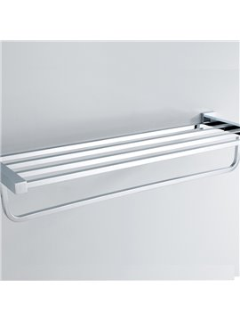 Chrome Finished Solid Brass 24 Inch Towel Bar Bathroom Shelf