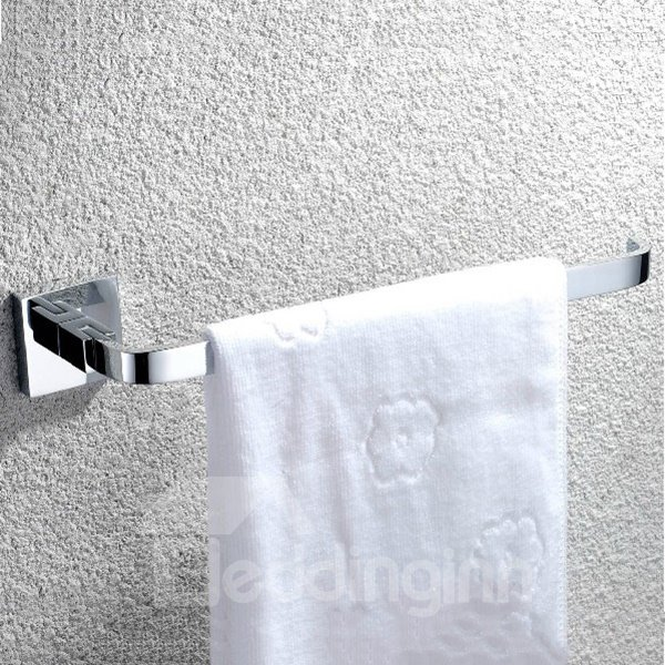 Silver bathroom accessories solid brass towel ring for Silver bathroom set
