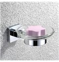 Silver Bathroom Accessories Solid Brass Soap Dish Holder