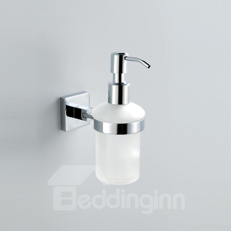 Chrome Finish Holder Soap Dispenser