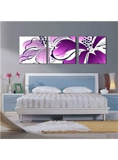 Gracious Purple Flower Blossom None Framed Canvas Wall Art Prints
