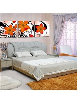 New Arrival Orange Elegant Flowers Blssom Canvas Wall Prints