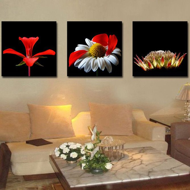 New Arrival Various Fancy and Colorful Flowers Canvas Wall Prints