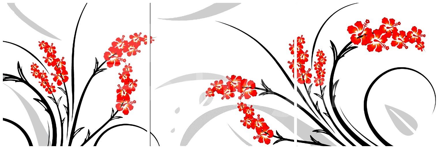 New Arrival Fancy and Blooming Red Flowers Canvas Wall Prints