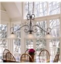 Alluring Bronze Iron Glass Shade 3 Lights Pentant