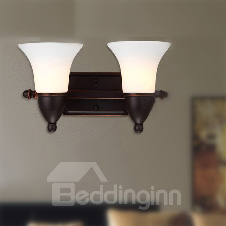 Simple Style Alluring Iron Material Glass Shade Wall Light