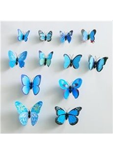 New Arrival Beautiful and Cute Butterfly 12-Piece Wall Stickers