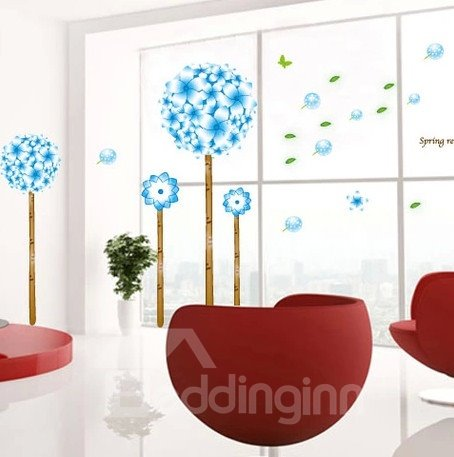 Natural Pandora Magic Flowers Pattern Wall Stickers
