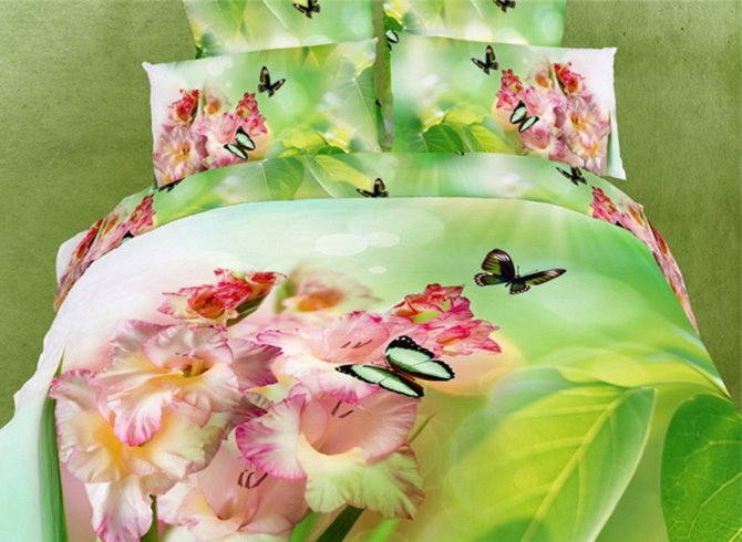 Beautiful Butterflies and Pink Flowers Print 3D Duvet Cover Sets