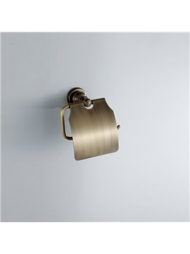 Simple Round Style Antique Brass Toilet Roll Holders