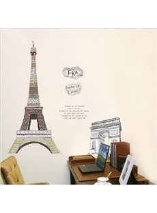 New Arrival Triumphal Arch and Eiffel Tower Wall Stickers