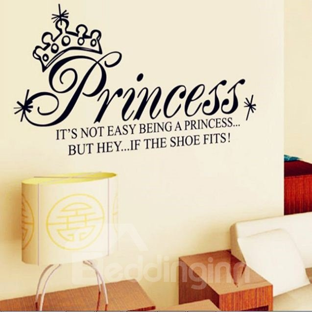Simple Style Cartoon Crown and Letter Print Wall Stickers