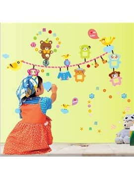 New Arrival Lovely Bear Photo Print Wall Stickers