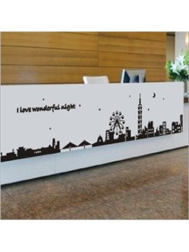 New Arrival Wonderful Night in City Wall Stickers