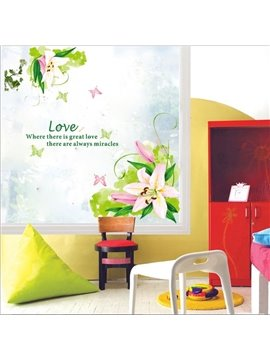 New Arrival Fancy and Gorgeous Lily Wall Stickers