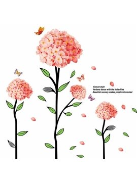 New Arrival Verbena Dance with the Butterflies Wall Stickers