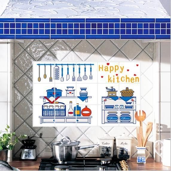New Arrival Happy Kitchen Wall Stickers