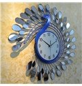 Alluring Creative Peacock Shape Home Decorative Wall Clock