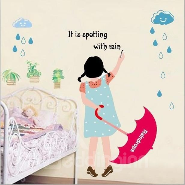 New Arrival Rain Dropping Print Wall Stickers