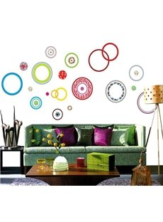 Colorful Bubble Print Removable Home Decorative Wall Stickers