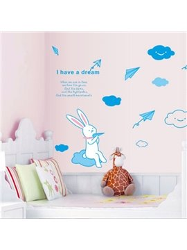 New Arrival Lovely Cat and Paper Plane Wall Stickers