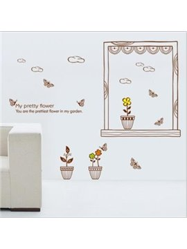New Arrival Pretty Flower in Garden Wall Stickers