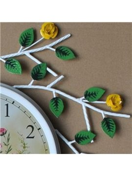 Hot Selling Pastoral Beautiful Roses Wall Clock