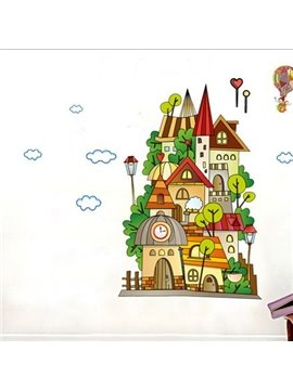 New Arrival Lovely Cartoon Castle Print Wall Stickers